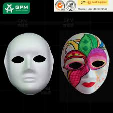 high quality recycled paper pulp face halloween party mask buy