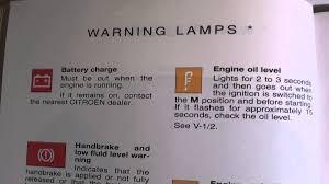 Lights On Dashboard Meaning Citroen Saxo Dash Warning Lights U0026 Symbols Youtube