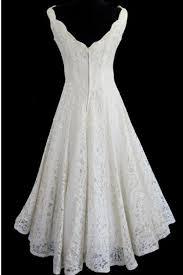 simple a line straps jewel knee length lace beach wedding dresses