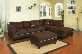 microfiber sectional with ottoman chocolate microfiber sectional with ottoman furniture in c hill
