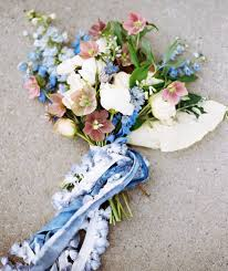 wedding flowers blue and white wedding flowers by season real simple
