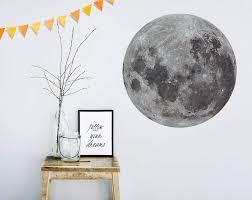 moon mural dot your decal shop nz designer wall art decals moon mural dot