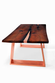 Copper Dining Room Table Live Edge Dining Table Sarma Modern Dining Table Table With