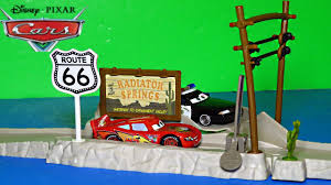 pixar cars highway hideout route 66 speed trap launcher story sets