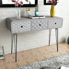 white table with drawers modern console table with drawers s s s modern white console table