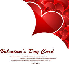 beautiful heart stylish text valentines day card design free