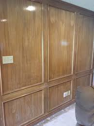 paneling how to paint natural wood paneling using behr paint junque cottage