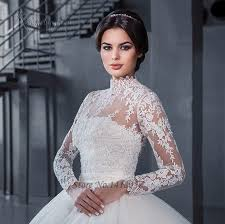 plus size wedding dresses with sleeves or jackets vestidos de noiva 2016 muslim sleeve lace wedding dresses