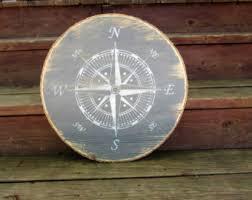 wood compass wall compass nautical compass sign nautical decor
