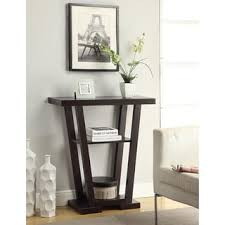 convenience concepts console table convenience concepts newport v wood console table free shipping on