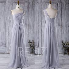 Light Gray Bridesmaid Dress 2016 Light Gray Bridesmaid Dress One Shoulder Wedding Dress Open