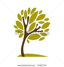 artistic stylized symbol creative tree stock illustration
