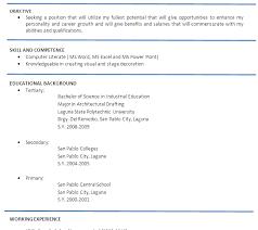 Sample Resume Philippines fashionable design sample resume format 9 resume philippines