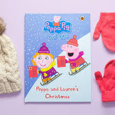 personalised peppa pig book peppa christmas by penwizard