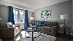 blue and gray living room orange and gray living room blue with accent wall grey walls brown
