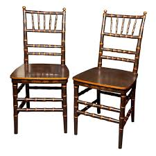 Bamboo Dining Room Chairs Pair Of Chinoiserie Faux Bamboo Dining Chairs For Sale At 1stdibs