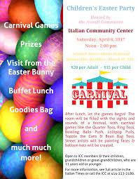 italian community center children u0027s easter party