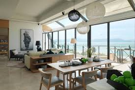 modern southern table stylish modern apartment in southern china with mountain and sea