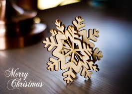tree ornament 3d snowflake wood decoration shabby