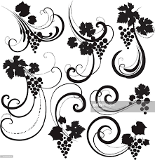 grape decorative ornaments vector getty images