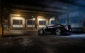 Nissan Gtr R35 - wallpaper nissan gtr r35 black garage parking car tuning wheels hd
