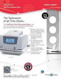 amazon com pyramid 3500 multi purpose time clock and document