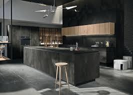 cuisines snaidero cuisine way materia noir aménagement de cuisines de luxe