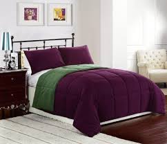 Home Design Down Alternative Comforter Reversible Down Alternative Comforter Set Purple Green