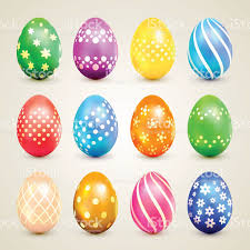 decorative eggs colorful easter eggs with decorative patterns stock vector