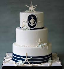 nautical wedding cake with starfishes beach theme wedding cake