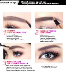 How To Pencil In Eyebrows Aliexpress Com Buy Novo Brand Tattoo Brow Gel And Pencil With