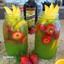Green Mango Mai Tai Cocktail Tipsybartender Com