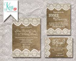 burlap wedding invitations wedding invitations lace and burlap criolla brithday wedding