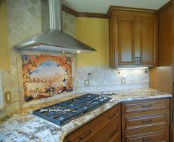 Kitchen Tile Backsplash Murals by Modern Interesting Kitchen Backsplash Mural Italian Tile
