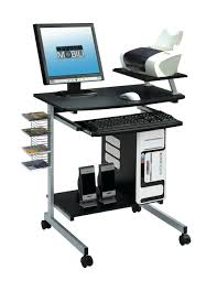 Rolling Laptop Desk by Techni Mobili Rolling Laptop Stand Mahogany Walmart Com