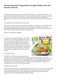 prevent premature ejaculation through healthy diet and regular exerci u2026
