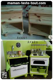 diy cuisine enfant diy fabriquer une cuisine pour enfant avec deux tables de chevet
