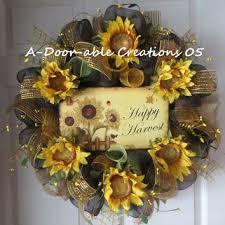 Sunflower Mesh Wreath Adoorablecreations05 On Etsy On Wanelo