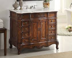 Discount Bath Vanity Adelina 42 Inch Traditional Old Fashioned Look Bathroom Vanity