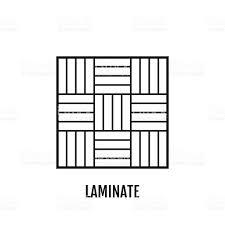 Laminate Flooring Materials Flat Icon Of Laminate Finishing Materials Floor Coverings Vector