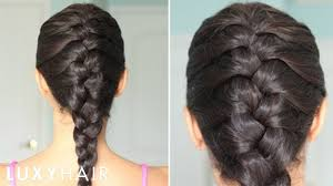 French Braid Hairstyles With Weave How To Basic French Braid Youtube