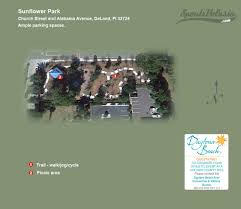 Map Of Deland Florida by Sunflower Park