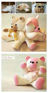 memory clothes diy keepsake memory teddy from baby clothes diy 4