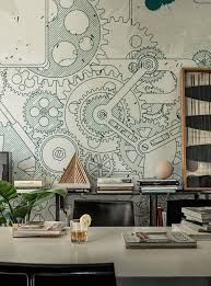 3d wallpaper for bedroom walls steampunk wallanddeco cool