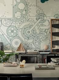 3d wallpaper for bedroom walls steampunk wallanddeco cool