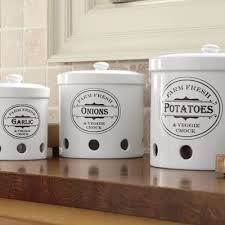 storage canisters for kitchen set of 3 vented storage canisters from country door n8710367