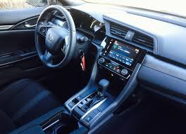 inside of a honda civic 2017 honda civic hatchback lx review personality and a