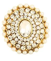 big rings online images Buy bling n beads pearl kundan adjustable big rings for girls jpg