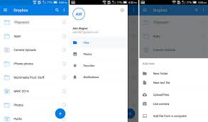 dropbox app for android dropbox app updated with material design ui android and me
