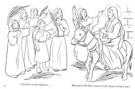 palm sunday coloring page resurrection coloring pages free easter
